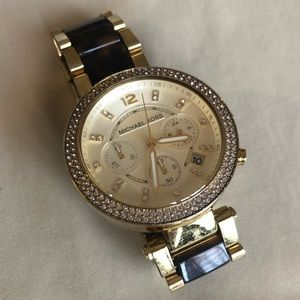 Michael Kors Watch with Rhinestoned Face